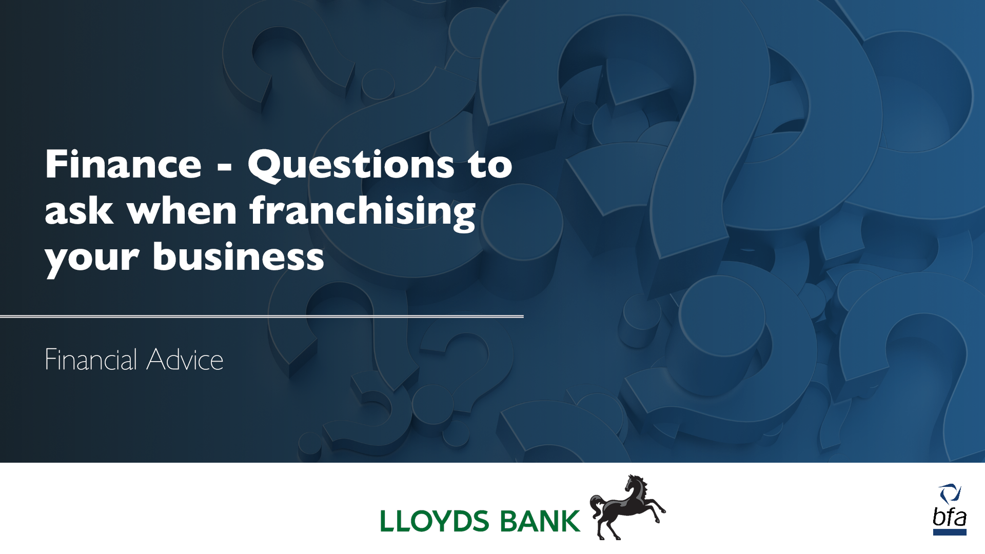 Finance – Questions to ask when franchising your business