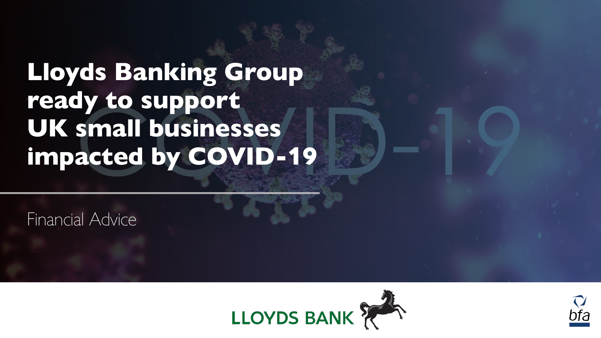 Lloyds Banking Group ready to support UK small Businesses impacted by COVID-19
