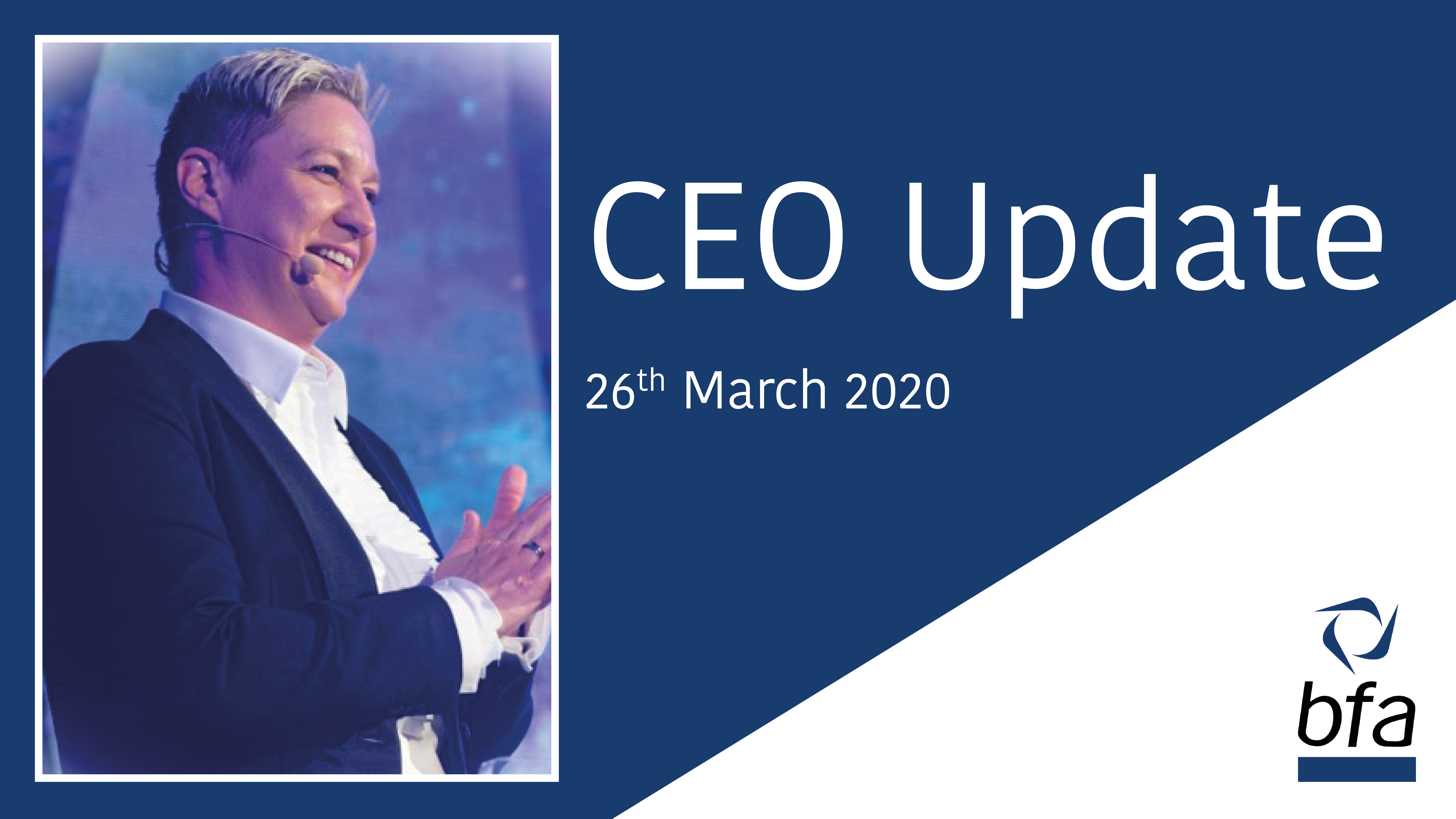 CEO Update: 26th March 2020