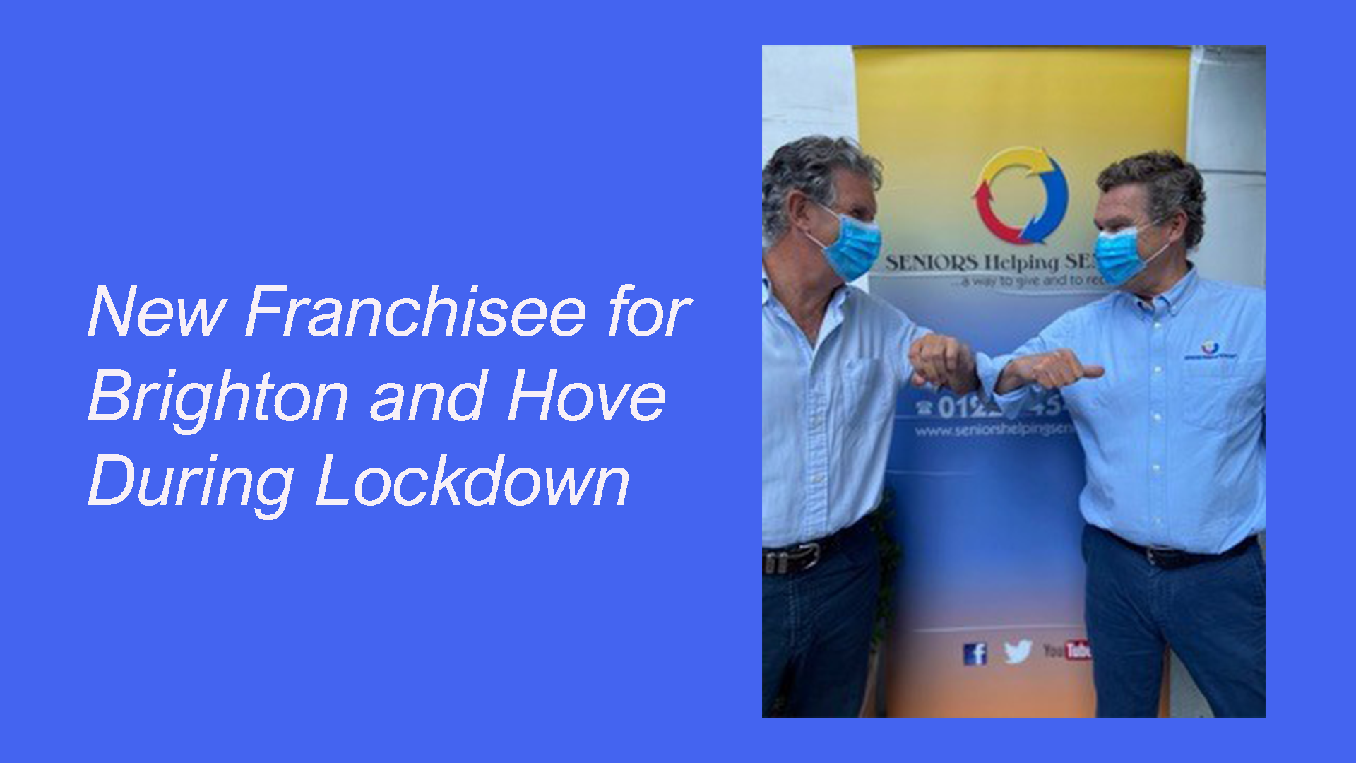 Seniors Helping Seniors signs a new franchise for Brighton and Hove during lockdown