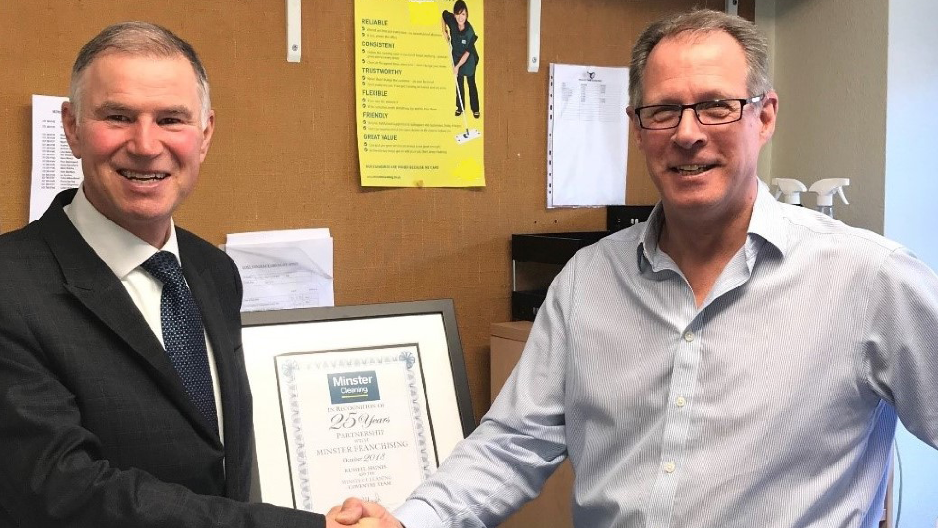 Coventry branch celebrates 25 years with Minster Cleaning