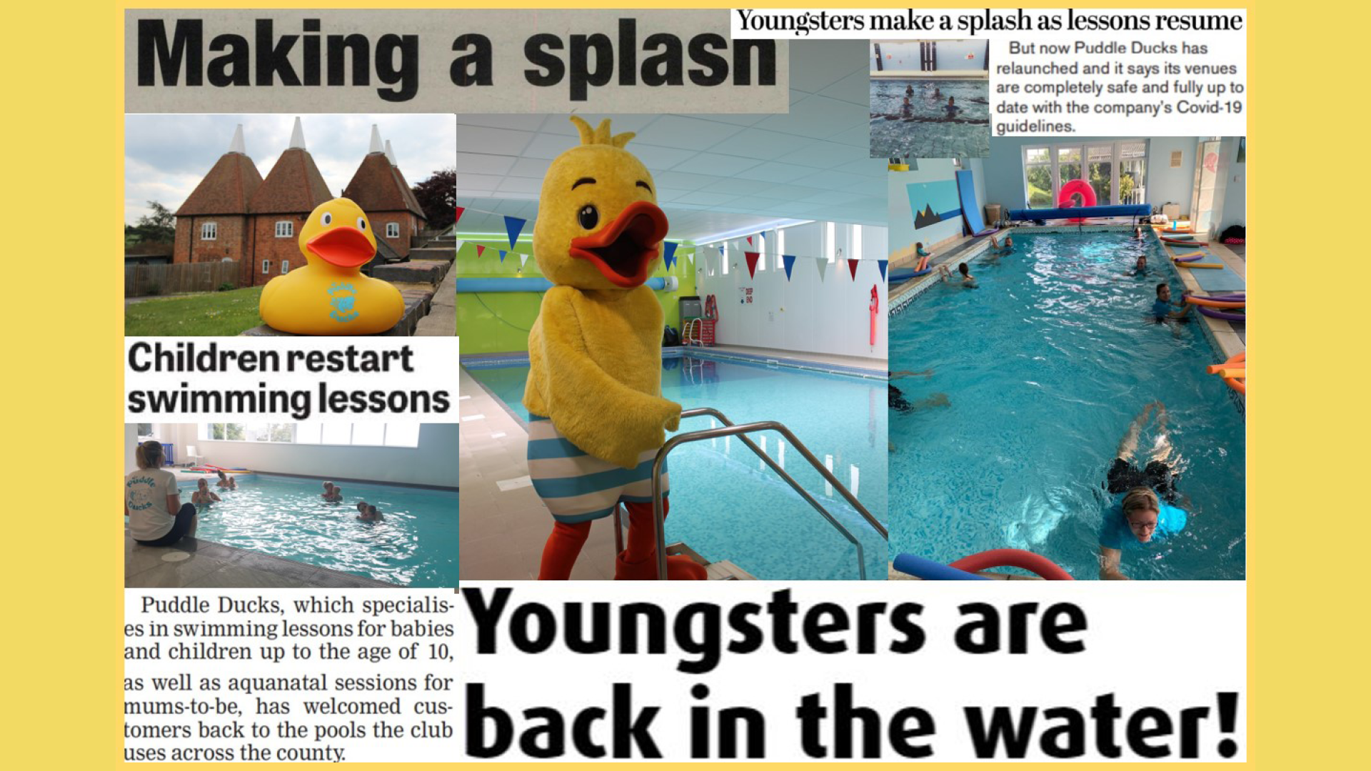 Puddle Ducks makes the news!
