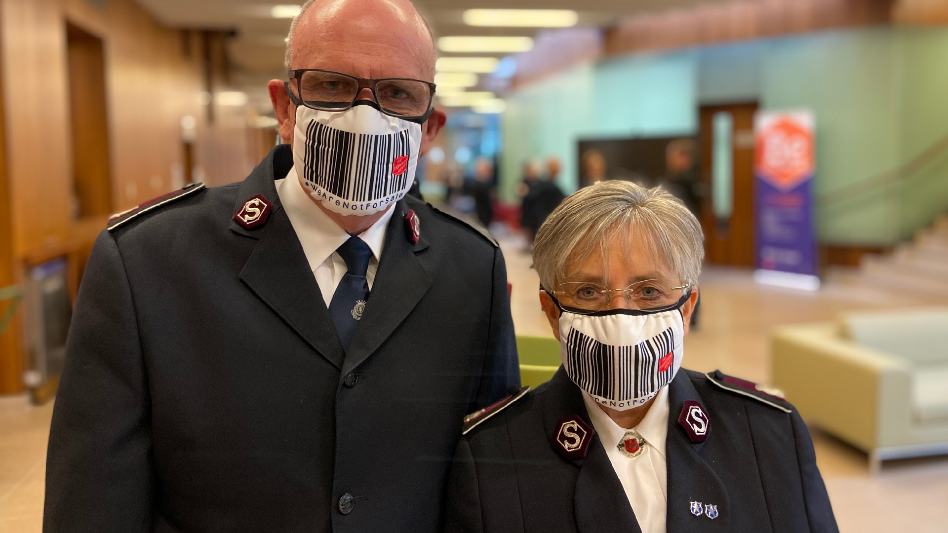 Recognition Express West Scotland, Lands National Contract for The Salvation Army Modern Slavery Face Mask Campaign