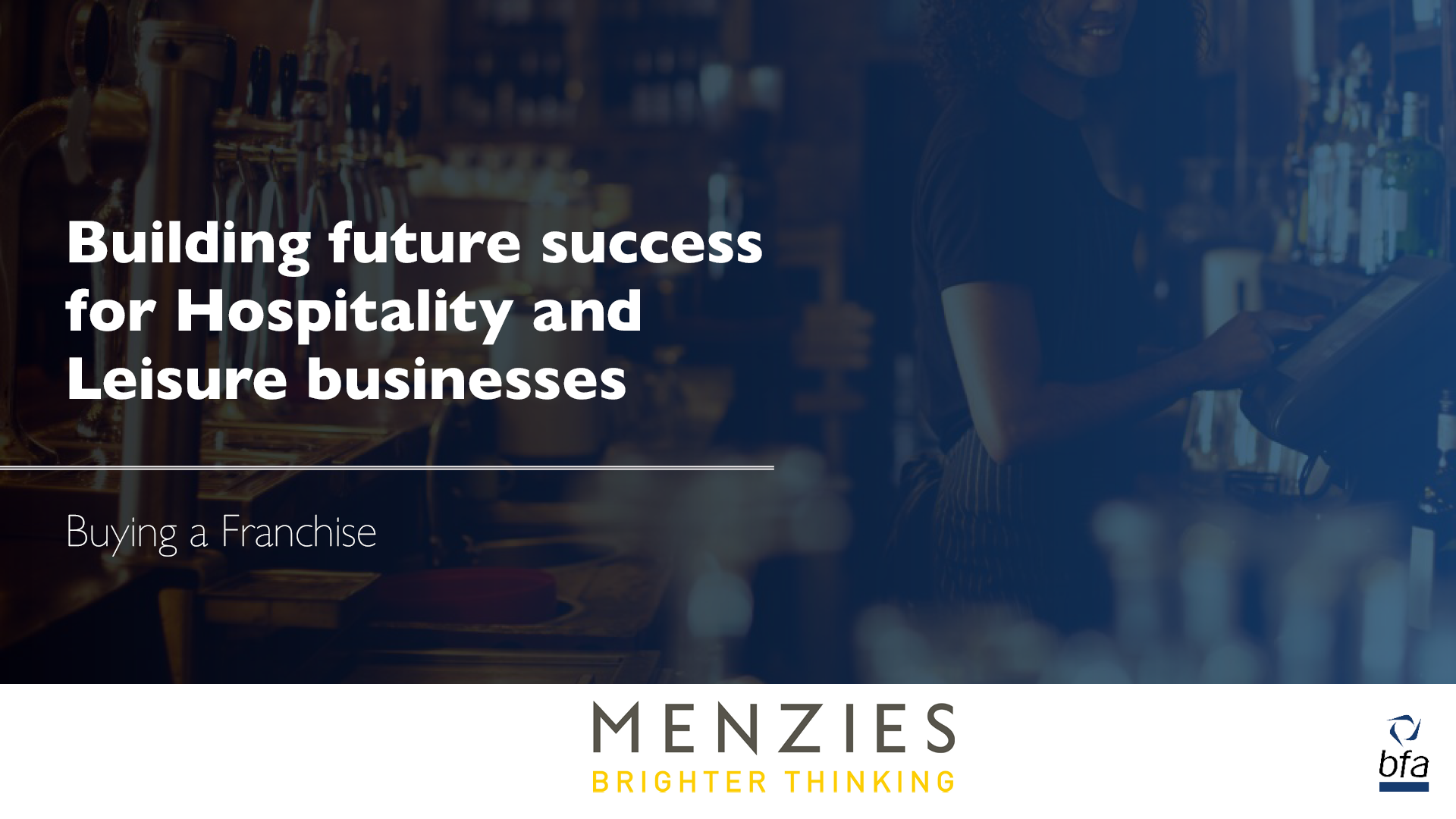 Building future success for Hospitality and Leisure businesses