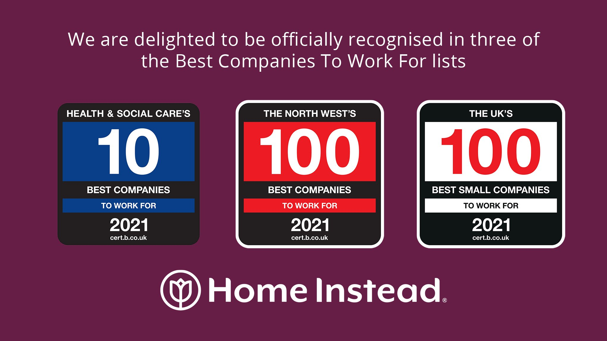 Home Instead awarded with Best company trio