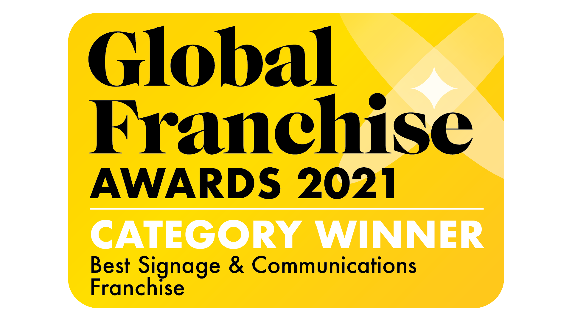 FASTSIGNS win at the Global Franchise 2021 Awards