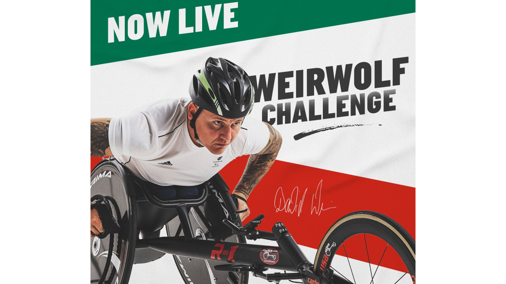 Papa John's teams up with ParalympicsGB athlete ambassador David Weir to launch 'Weirwolf Challenge'
