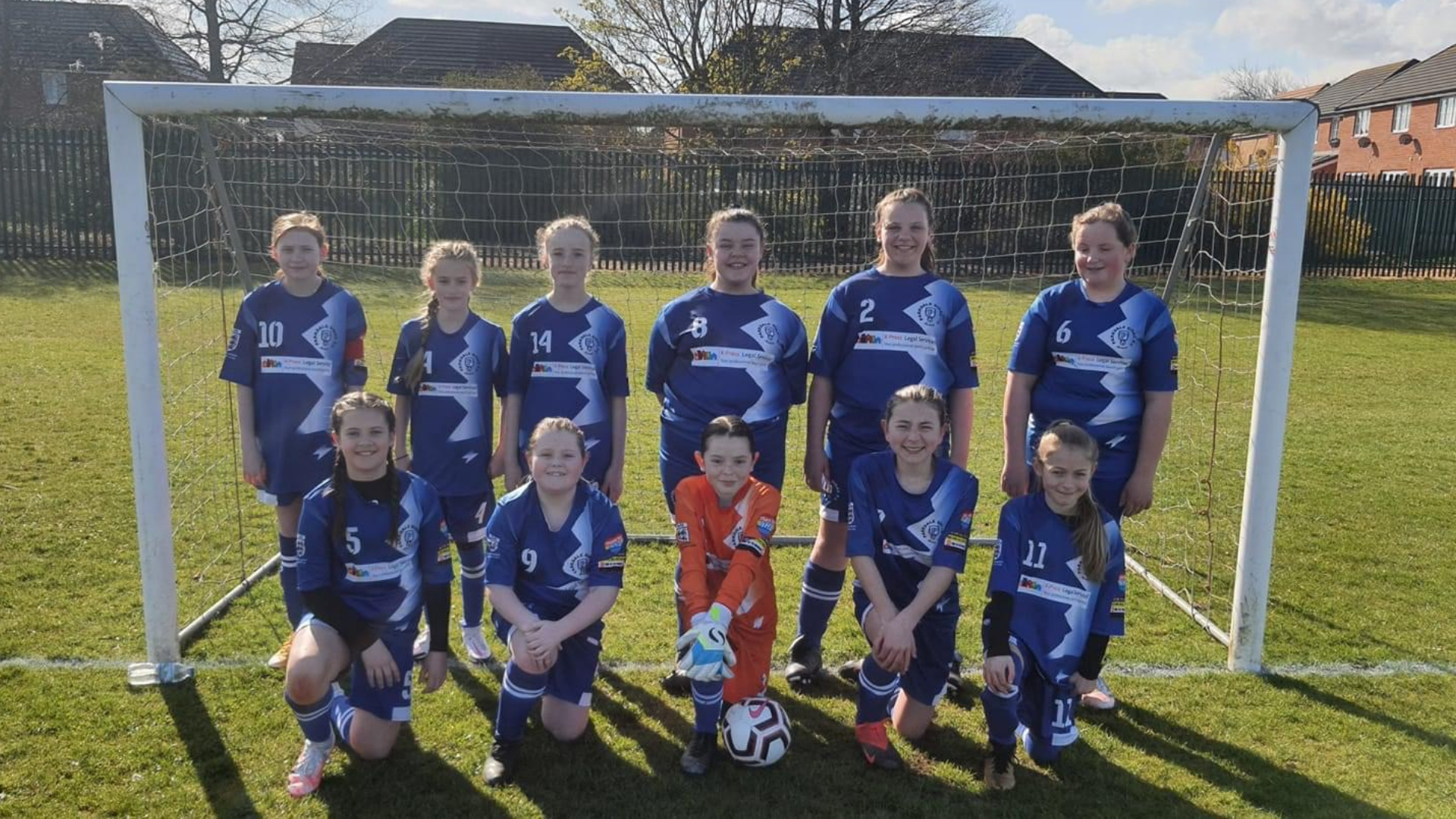 Girls team are on the ball with new kit