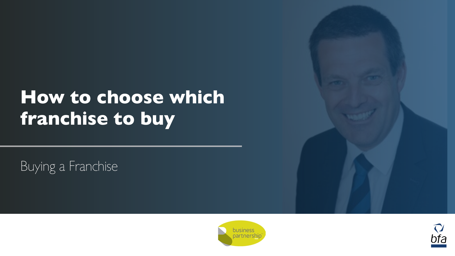 Director of Business Partnership shares tips on how to choose which franchise to buy