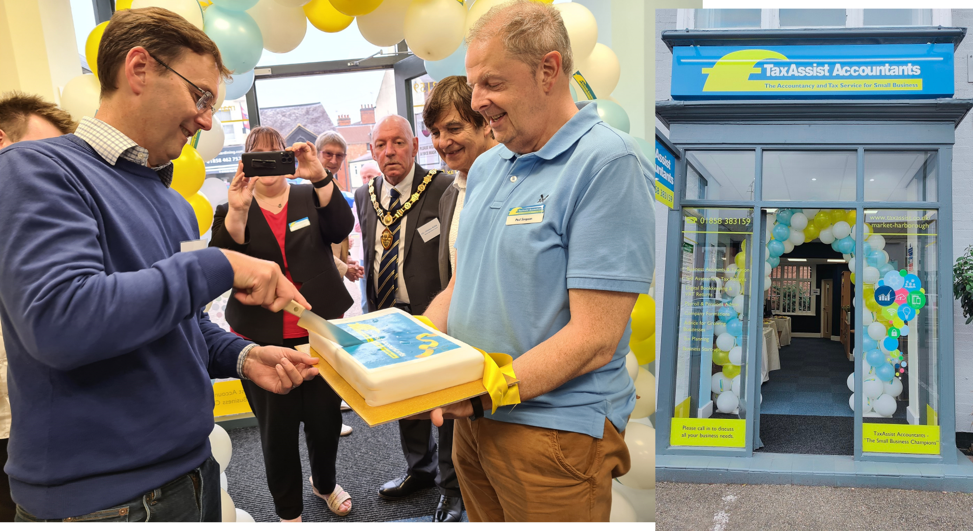 Council chairman officially launches TaxAssist in Market Harborough